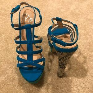 NWT Colin Stuart Strappy Heels In Box - Size 8.5